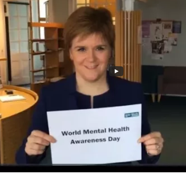 Nicola Sturgeon's Cameo Role in Into Work's video for World Mental Health Day